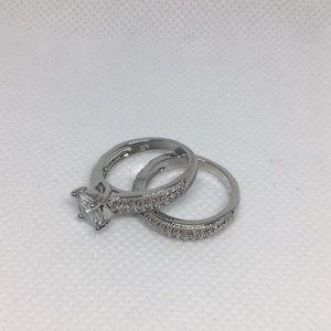 Cubic Zirconium Wedding Set